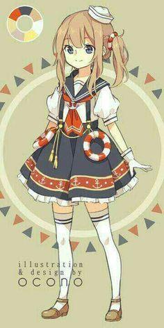 Anime Art Girl Kawaii Character Design 68 Ideas For 2019 Anime Oc, Anime Chibi, Kawaii Anime, Loli Kawaii, Manga Anime, Hot Anime, Manga Girl, Anime Art Girl, Anime Girls