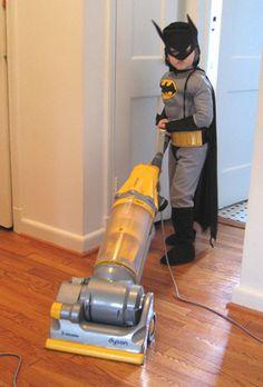 Batman gets the chores done