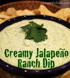 Yum... I'd Pinch That! | Creamy Jalepeno Ranch Dip