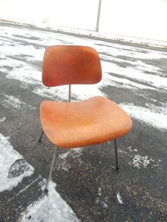 Red #Eames for Valentine's Day Early-Eames-for-Herman-Miller-Red-Aniline-DCM-Dining-Side-Chair