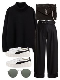 """Sin título #2350"" by alx97 ❤ liked on Polyvore featuring Isa Arfen, Puma, Yves Saint Laurent and Ray-Ban"