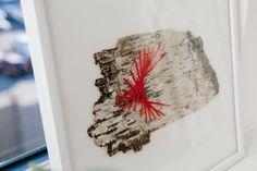 Framed Stitched White Birch