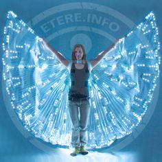 "AAAAH I WANT! These would trip people out so much! $675 though.. :-( Led dance wings ""RGB-600"" 150Watt"