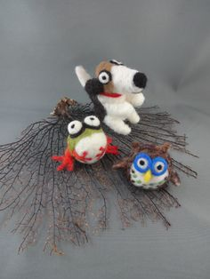 Needle felted big eyes!! Inspired by Wool Buddies!!