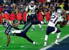 Paving the way for the victory: As the Super bowl came to a close, Tom Brady hit Julian Edelman for a touchdown that took their score to 28 against the Seahawks' 24. However, it was Malcolm Butler's last-second interception that prevented the Seahawks from winning.