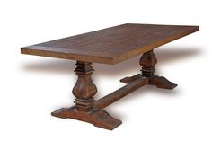 Waxed salvage oak vintage trestle table