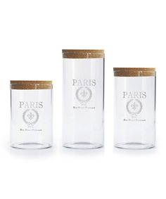 Look at this #zulilyfind! 'Paris' Canister Set #zulilyfinds