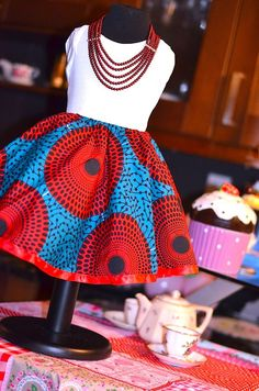ankara and kitenge skater skirts African children's fashion Baby African Clothes, African Dresses For Kids, African Babies, African Children, African Print Dresses, African Fashion Dresses, African Women, African Prints, African Inspired Fashion
