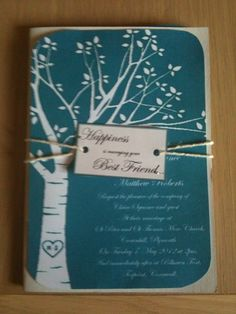 I love this invitation.  Esp. since Byron and I have our names in a tree!!