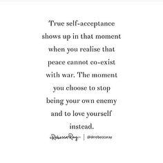 Self acceptance and self love