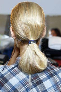 The Best Hair Trends For Spring 2015 - Mixed Materials: Reed Krakoff   - HarpersBAZAAR.com