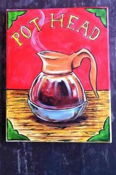 Coffee Pot Head - a cute little wall hanging. Not able to find original artist to credit...