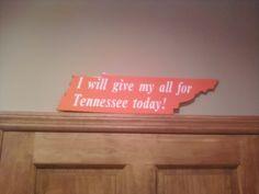 Volunteer locker room sign I made.