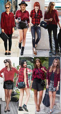 In Fashion: Red Plaid Shirts