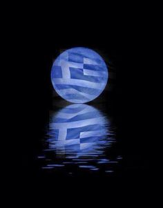 Greek Flag, Greek Mythology Art, Beautiful Islands, Iphone Wallpaper, Cool Pictures, Nice Picture, Blues, Moon, Posters