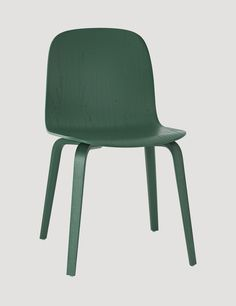 The VISU wood base chair is an ergonomic and functional chair with a timeless and recognizable profile. Designed by Mika Tolvanen. Here in the colour green #muuto #muutodesign