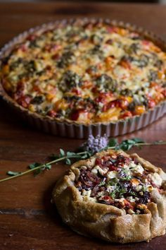 Gluten Free Tomato Tart with Olives and Feta