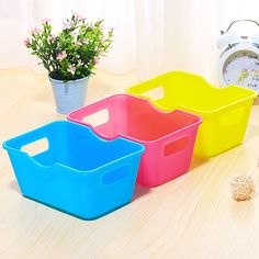 Cartoon Printed Box Rectangle Organizador Desktop Sundries Finishing Plastic Box Hot Sell Containers For Storage #Affiliate