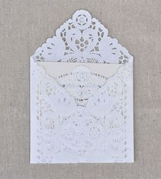 Lace wedding invitation envelopes are very elegant