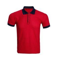 Turn-Down Collar Color Block Spliced Polo T-Shirt For Men