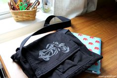 Craftaholics Anonymous® | Messenger Bag Tutorial {With Hidden iPad Holder}