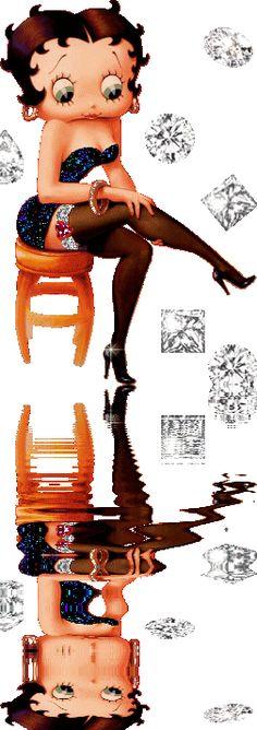 Betty Boop, Boop Gif, Greetings Images, Pt Cruiser, Classic Cartoons, Black Women Art, Dope Art, Cute Dolls, Girl Cartoon