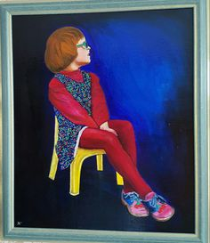 Eva op plastic stoel