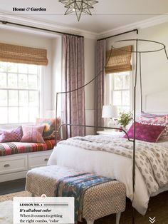 Eclectic bedroom;Amber Interiors for Sunset