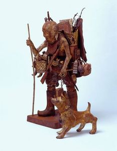Potter Artist Grayson Perry (British: - Our Father, 2007 - Cast iron, oil paint and string, 80 x 60 x 52 cms Grayson Perry Art, Things To Do Today, High Art, Museum Exhibition, Recycled Art, Textile Artists, British Museum, Archaeology, Lion Sculpture