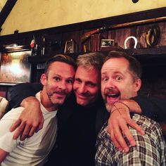 The Lord of the Rings: Dominic Monaghan, Viggo Mortensen, and Billy Boyd The Hobbit Jrr Tolkien, Hobbit Book, Viggo Mortensen Aragorn, Billy Boyd, Lotr Cast, Captain Fantastic, Favorite Movie Quotes, The Two Towers, Middle Earth