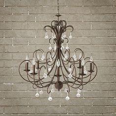 Large Scroll Ball Chandelier   Arhaus Furniture  Romance, elegance, statement chandelier, rustic