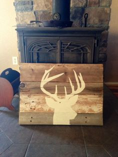 Wall hanging painting on authentic, weathered barnwood. on Etsy, $40.00