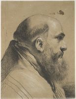 Pietro Faccini, Italian (Bologna, Italy 1562 - 1602 Bologna, Italy)   Title  Profile Head of a Bearded Ecclesiastic  Classification  Drawings  Work Type  drawing  Date  16th-17th century