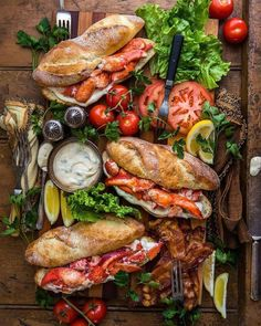 Long Weekend Maritime Lunchtime Happiness = Lobster BLTs with Garlicky Herb Mayo. Happy Saturday friends - you're awesome. I Love Food, Good Food, Yummy Food, Easy Brunch Recipes, Breakfast Recipes, Brunch Ideas, Tapas, Lobster Recipes, Lobster Food