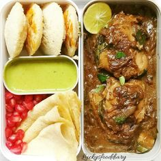 South Indian Bento Oats Idli, Brown Rice Dosa & Pepper Chicken