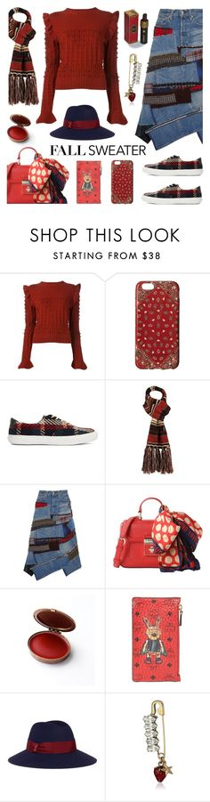 """Cozy Sweater"" by deepwinter on Polyvore featuring Philosophy di Lorenzo Serafini, Marc Jacobs, Muk Luks, Junya Watanabe, Love Moschino, MCM, Borsalino and fallsweaters"