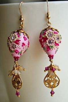 strawberry and cream earrings   Flickr - Photo Sharing! by Chili Crab