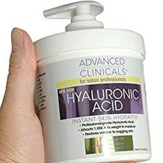 Advanced Clinicals Anti-aging Hyaluronic Acid Cream for face, body, hands. Instant hydration for skin, spa size. -- You can get additional details at the image link. (This is an affiliate link) Hyaluronic Acid Cream, Hyaluronic Acid Moisturizer, Anti Aging Moisturizer, Facial Serum, Best Body Moisturizer, Lotion For Dry Skin, Hand Lotion, Spa, Firming Cream