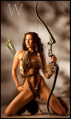 The crotch burn from just walking in whatever the hell that is she's wearing, must be incredible---and let's not get into brass tacks about how those arrows do not go with that bow. 0_0