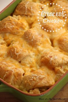 Crescent Chicken - Canned crescent rolls stuffed with a cream cheese chicken mixture and baked for a super comforting week-night supper.