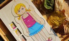 Puzzle warstwowe ciało dziewczynki <3