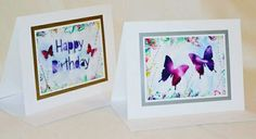Encaustic wax painted silhoutte greeting cards by Moo Doodle https://www.facebook.com/moodoodle15