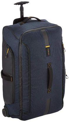Cabin Bag Duffel 2 Wheels Telescopic Handle Backpack Straps 121,5L Jeans Blue #CabinBagDuffel