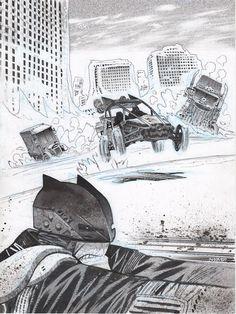 "Badass ""road rage"" Batman by @JamesHarren1! Want a commission? Get on my mailing list! http://felixcomicart.com"
