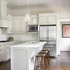 Shaker KItchen Cabinets, Transitional, kitchen, Courtney Giles Interiors
