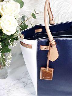 StilGut Handtasche in blau-weiss