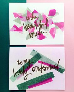 How do you ask your bestie to be a bridesmaid? @augustpaperco has an idea! These confetti cards are our
