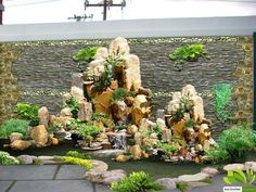 Landscaping With Rocks, Front Yard Landscaping, Glass Waterfall, Diy Garden Fountains, Water Features In The Garden, Beautiful Flowers Garden, Small Garden Design, Garden Art, Outdoor Gardens