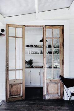 rustic french doors. / sfgirlbybay