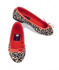Leopard Print Needlepoint Ballet Flats